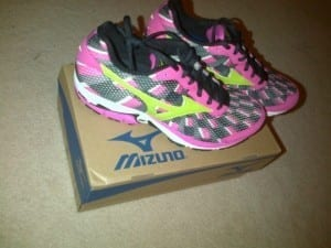 Pretty excited my brand new PINK racing shoes – can't wait to take these ladies for a spin this week at Redcliffe!